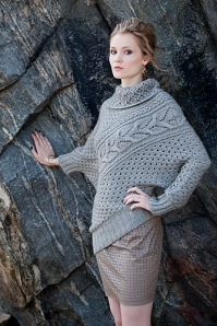 Vogue Knitting Fall 2013 #12 Asymmetric Pullover