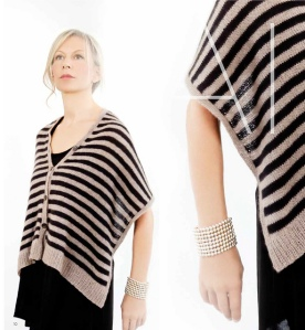 Striped Shawl knit in Zealana Air