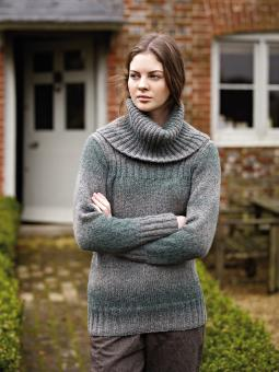 Ashbourne turtleneck pullover from Autumn Knits