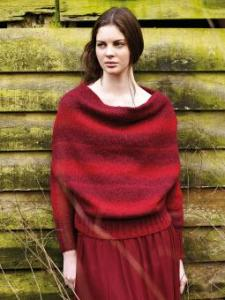 Hathersage draped neck pullover from Autumn Knits